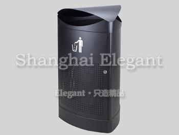 钢结构三角弧形德式垃圾桶