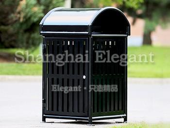 钢结构方形美式垃圾桶
